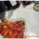 Strawberries and Gelatine are mixed in the Thermomix