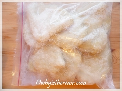 After baking, place in a tightly sealed plastic bag for at least 15 minutes to soften and flatten