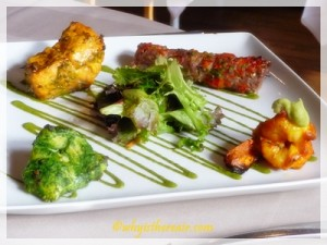 Zaika's Kebab Milan, a selection of four tandoor-cooked dishes