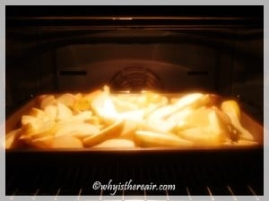 Apples par-baking