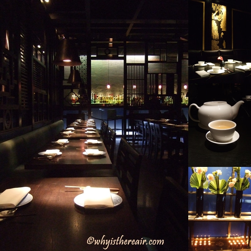 Gentle lighting and dark oak panelling prevail at Hakkasan Hanway Place
