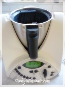 Add a litre of water to your Thermomix