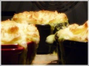 Our Thermomix fish pies are baking in the oven