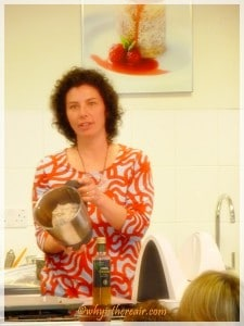 Dani Valent shows the dough for her grissini recipe