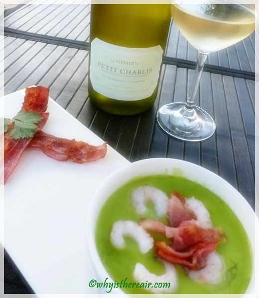 This Petit Chablis paired spectacularly with our Thermomix coconut pea soup