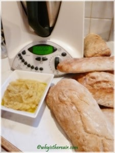Truffled parsnip purée and homemade ciabatta