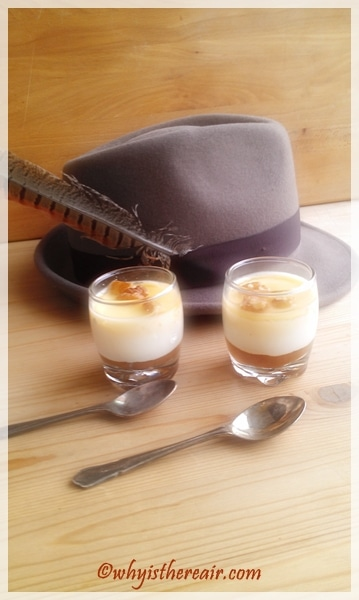Autumnal tastes make these Gorgonzola Panna Cotta verrines a great winter treat