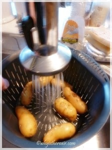 Clever Thermomix: the internal steamer basket doubles as a colander so you can rinse your veg with less washing up!