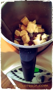 What could be simpler: Add all your dry ingredients to the Thermomix bowl to make these almond and seed crackers