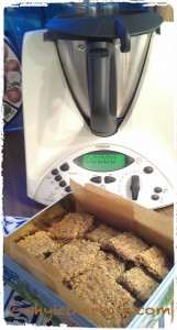 Bernie's Thermomix Almond and Seed Crackers are a big hit whenever you serve them