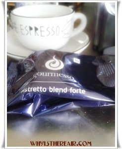 Gourmesso and Nespresso® coffee capsules have a flavour intensity scale