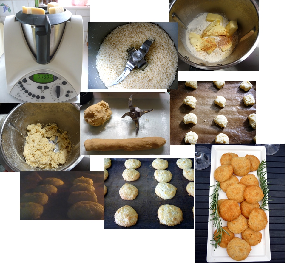 Making Spicy Parmesan Shortbread Biscuits in the Thermomix