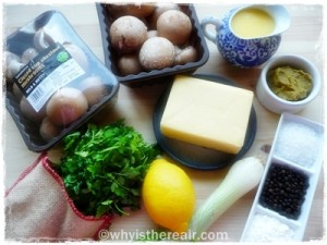 Ingredients for my Thermomix Mushroom Soup
