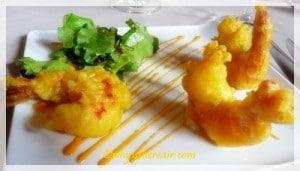 Tali Machli, Crispy tempura tiger prawns