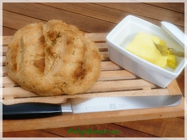 Getting ready to taste Quirky Cooking's Gluten Free Artisan Bread, so fast and easy to make with Thermomix!