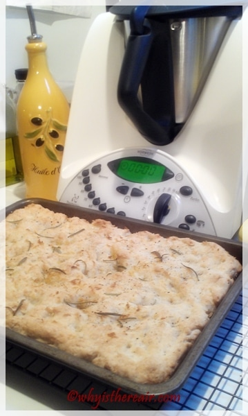 Here's our Thermomix GF Focaccia all baked to a lovely golden brown