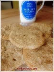 Almond Butter Cookies go beautifully with a cup of tea